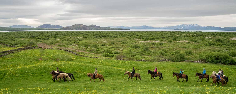 Fantastiskt bra ridresa med underbara vyer och naturupplevelser på Island