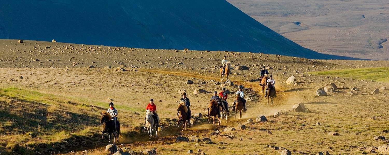 Ridresa och ryttare på Kjölur Island